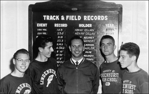 Lindenhurst High School Track & Field and Cross Country Coach Carl Greenhut (early 1960's)