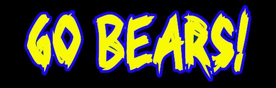 Go Bears Blue & Gold on Black