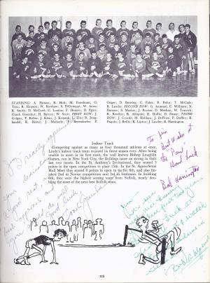 Lindenhurst High School Bulldog 1963 Yearbook Indoor Track