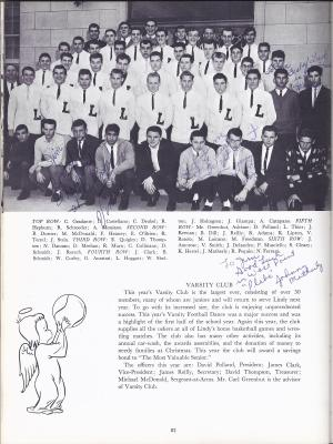 Lindenhurst High School Bulldog 1963 Yearbook Varsity Club