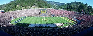 Cal Memorial Stadium panoramic view