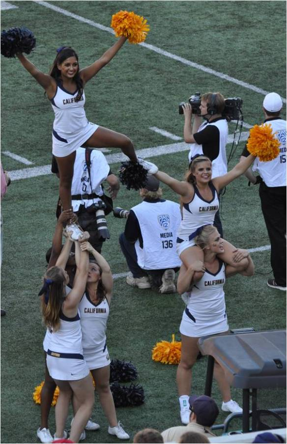 Cal Cheerleaders Exhort Fans