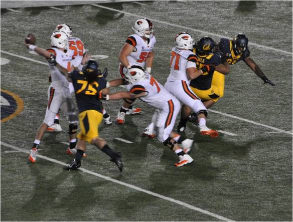 DE Puka Lopa Closes in on OSU QB Sean Mannion