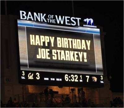Cal v. Oregon State -- Happy Birthday Joe Starkey