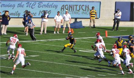 Cal v. WSU -- Bryce Treggs Cuts on Kickoff Return