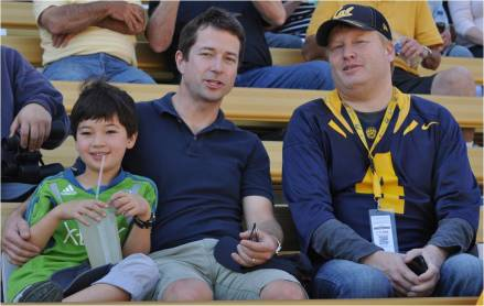 Cal v. WSU -- #1 Son Douglas with College Roommate Brian Watkins and his son Tyler