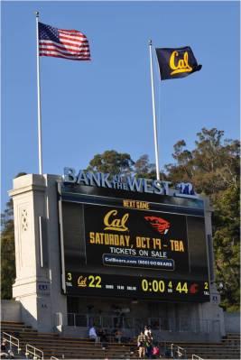 Cal v. WSU -- Final Score:  WSU 44 -- Cal 22