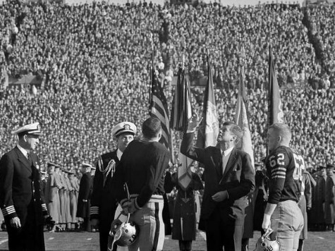 President John F. Kennedy Flips the Coin at the 10962 Army-Navy Game