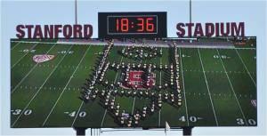Cal Band Pregame Show on the Scoreboard