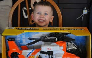 Finnegan with Coast Guard Helicopter