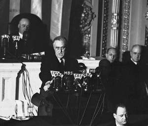 FDR Addresses Congress