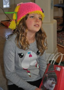 Hannah with Christmas Hat