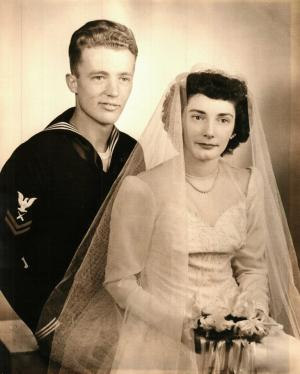 Mom & Dad Wedding Portrait -- January 17, 1945