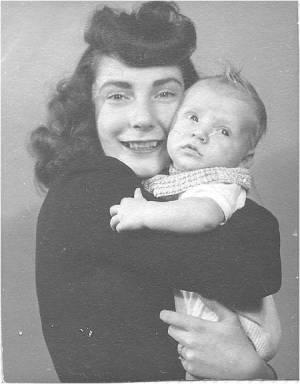 Mom & I in 1946