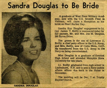 Sandy Wedding Newspaper Announcement