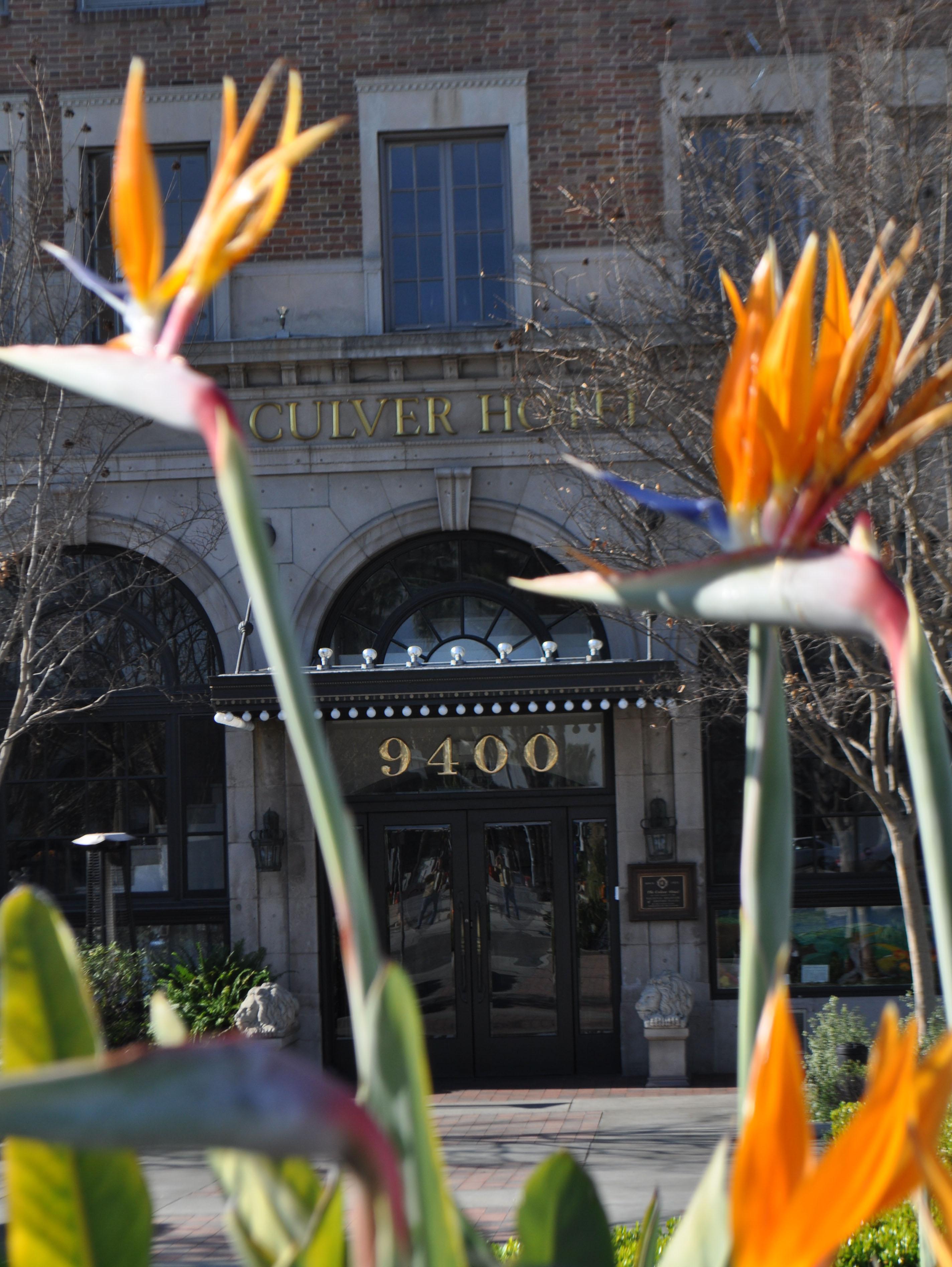 Culver Hotel Entrance & Flowers