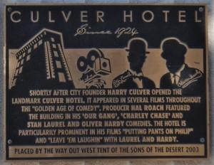 Culver Hotel Placque