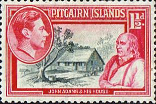 John Adams Pitcairn Island Stamp