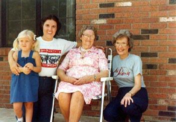 Four Generations (Larisa Joy Reilly Thomas, Sandra Kay Douglas Reilly, Jessie Grace Busby Douglas, Dorothy Hardy Douglas)