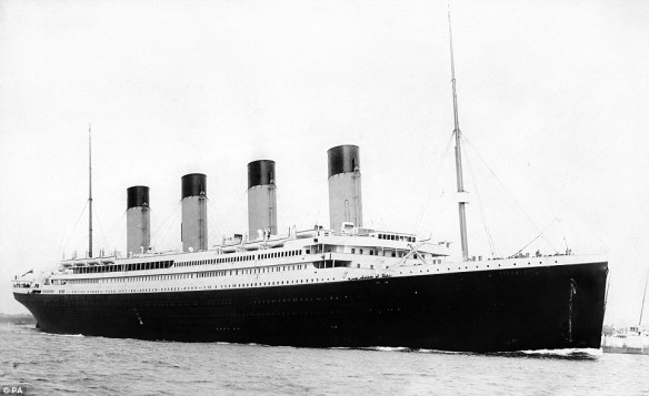 RMS Titanic at sea.