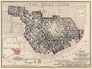 San Francisco Earthquake 1906 Map of Fire Damage