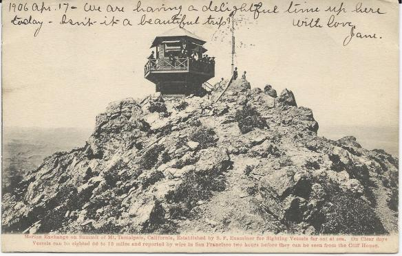 "San Francisco Earthquake ""Tamalpais CA"" Postcard"
