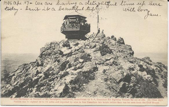 "San Francisco Earthquake ""Tamalpais CA"" Postcard"