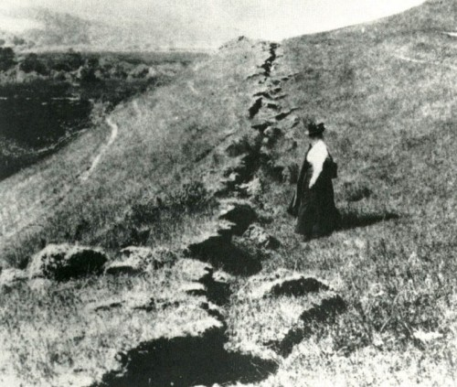 San Francisco Earthquake -- Damage on the Fault Line