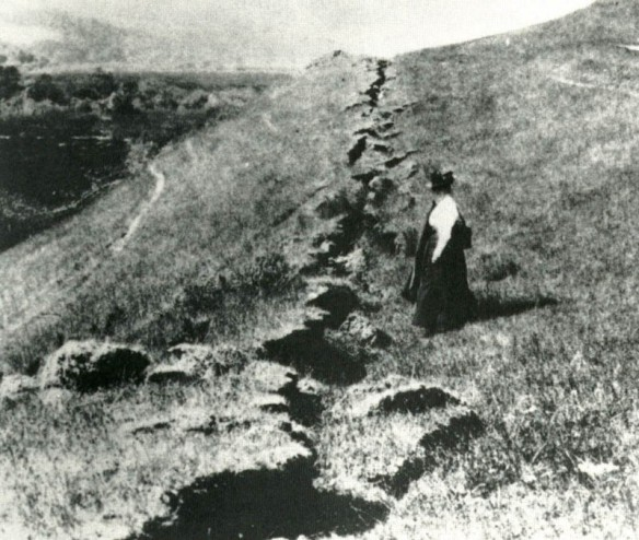 San Francisco Earthquake -- Damage on the Fault Line