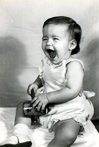 Sandy was a happy baby 1949 Photo by Joe M. Douglas