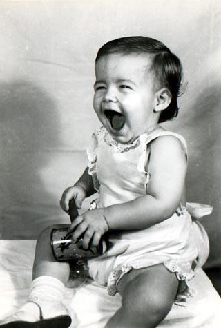 Sandy was a happy baby 1949 Photo by Joe M. Douglas