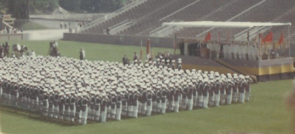 USMA Class of 1967 Standing for National Anthem, Graduation Ceremony, June 7, 1967