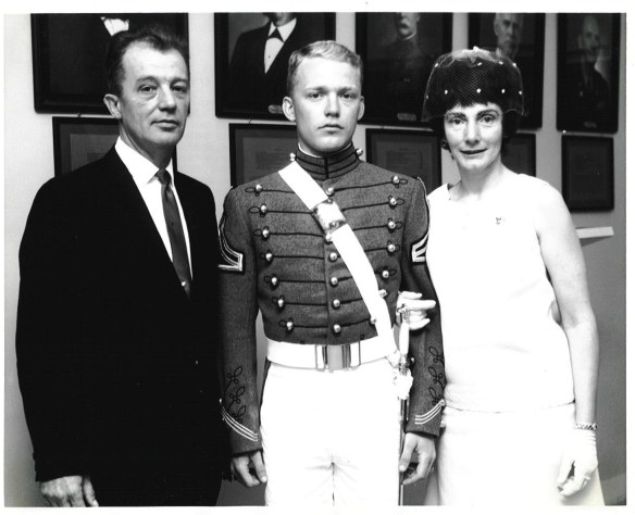 With Mom & Dad After Swearing In  --  GMCM Lawrence J. Reilly, USN (Ret) and Marion Thomas Reilly