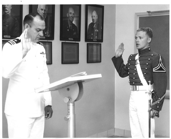 Being Sworn in by US Navy LCDR C. A. Sorenson