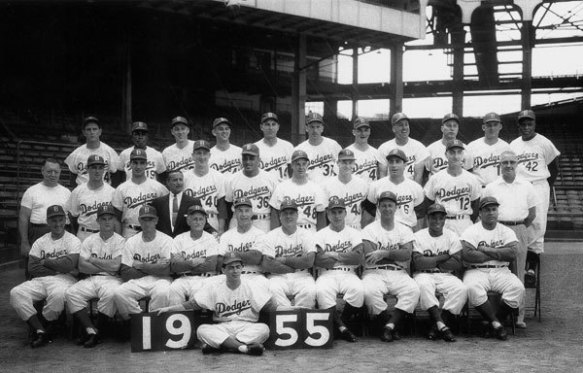 Brooklyn Dodgers 1955 Team Photo