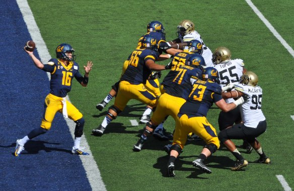 Offensive Player of the Week Jared Goff Passing from his own Endzone.
