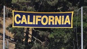 Cal v. Sacramento State 140906 1 California Banner East Side of Stadium
