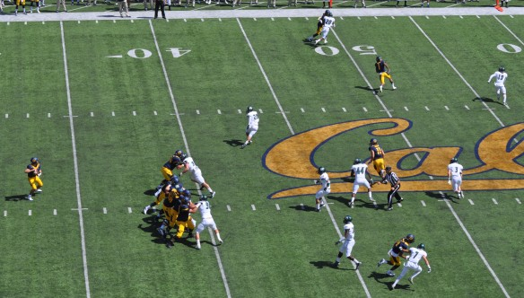 Golden Bears on Offense 1st Quarter