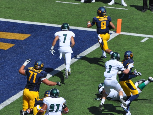 #2 QB Luke Rubenzer runs in for a TD