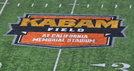 Cal v. Sacramento State 140906 3 Kabam Field North End Logo