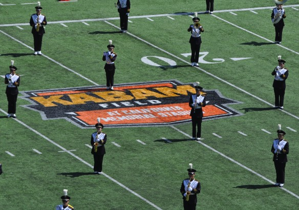 Cal v. Sacramento State 140906 6 Band on Kabam South End Logo