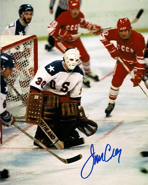 The Miracle on Goalie Jim Craig autograph