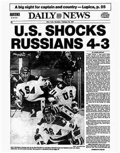 The Miracle on Ice New York Daily News front page