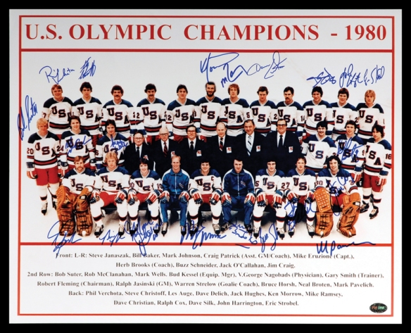 The Miracle on Ice team photo