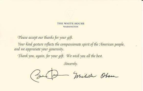 USS Frank E. Evans President Obama Response postmarked 150209