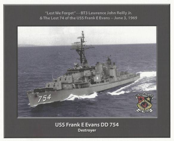 "USS Frank E. Evans (DD-754) ""Lest We Forget"""
