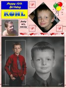 Kohl Happy 10th Birthday 150727