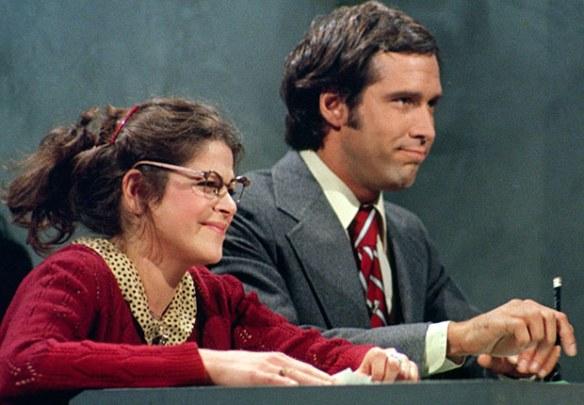 Saturday Night Live Emily Litella & Chevy Chase