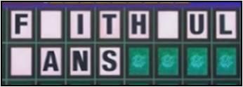 Faithful Fans 3 blanks